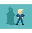 Business king Businessman with shadow as chess vector image vector image