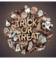 Cartoon cute doodles Trick or treat inscription vector image