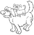 cartoon playful dogs funny animal characters vector image vector image