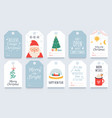 christmas tag merry winter holidays gift tags vector image