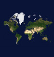 coloured physical map of the world view from space vector image