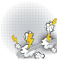 comic explosion vector image vector image