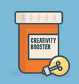 creativity booster vector image vector image