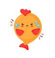 cute sad funny fish cartoon character vector image vector image