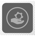 Engineering Service Rounded Square Button vector image vector image
