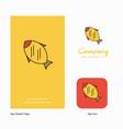 fish company logo app icon and splash page design vector image vector image
