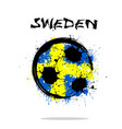 flag of sweden as an abstract soccer ball vector image
