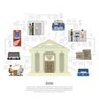 flat bank infographics vector image vector image