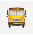 Flat icon yellow school bus vector image