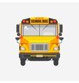 Flat icon yellow school bus vector image vector image
