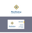 flat right arrow road sign logo and visiting card vector image