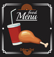 food restaurant menu vector image