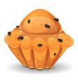 french brioche with chocolate nuggets vector image