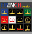 french set of number 1 templates vector image