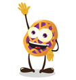 funny Cherry Pie or Italian Crostata vector image vector image