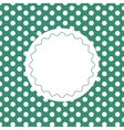 Green vintage background with dots vector image vector image