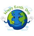 happy earth day icon vector image