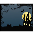happy halloween background with house vector image
