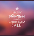 happy new year and christmas sale card vector image