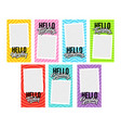 hello 7 days week with photo template vector image vector image