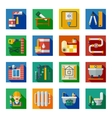 Home Repair Flat Square Icons Set vector image vector image