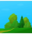 Landscape Summer Forest Low Poly vector image vector image