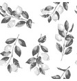 lemon and branches hatching seamless vector image