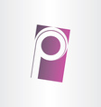 letter p purple sign design vector image vector image