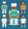 medical personalflat characters kit vector image vector image