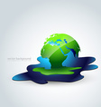 melting earth vector image vector image