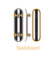 modern long board desk icons in outline vector image vector image