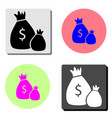 money bag flat icon vector image