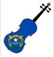 nevada state fiddle vector image vector image