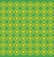 ornament love pattern green vector image vector image