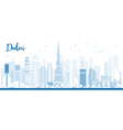 Outline Dubai City skyline vector image vector image
