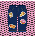 patches fashion decoration vector image