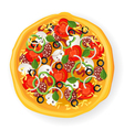 pizza icon vector image vector image