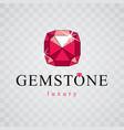 precious decorative element polygonal luxury vector image vector image