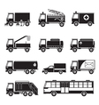 Public Utility Vehicles Object Silhouette Set vector image vector image