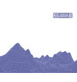 purple polygonal mountains from a grid on a white vector image