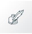 quill pen icon line symbol premium quality vector image