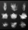realistic explosion smoke set vector image