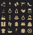relax in spa icons set simple style vector image