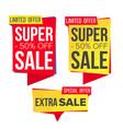 sale banner set discount banners sale vector image vector image