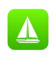 sea yacht icon digital green vector image vector image