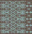 seamless ikat pattern turquiose vector image vector image