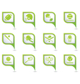 Set of 12 sport on GREEN pointer vector image vector image