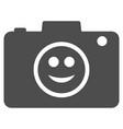 smile photo camera flat icon vector image
