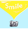 smile photography vector image