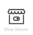 switch shop secure security icon editable line vector image vector image